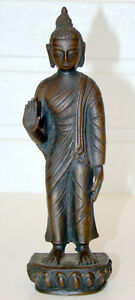 Antique Vintage Chinese Japanese Bronze Standing Buddha Figure China Japan