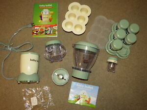 GREAT Baby Bullet baby food making kit + storageuse or can be replacement parts