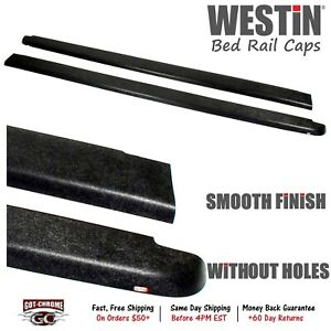72 40451 Westin Black Bed Rail Caps Dodge Ram 6 4 Bed 2002 2008