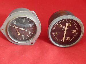 Gauges From A 1950 s Era Hot Rod speedometer Tachometer