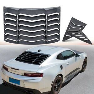 Rear Quarter Side Window Scoop Louvers Vent Gt Lambo Style For Chevrolet Camaro