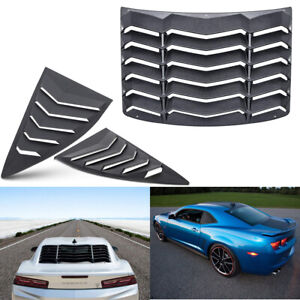 Quarter Side Rear Window Scoop Louver Accessories Kit For Chevy Camaro 2010 2015