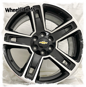 24 Inch Gloss Black Machine 2016 Chevy Tahoe Ltz Oe Replica Wheels 6x5 5 31