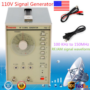 Radio Frequency Rf Signal Generator 100khz 150mhz Rf am 110v High Accuracy Usa