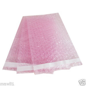 500 4x7 5 Anti static Pink Bubble Out Pouches Bubbble Wrap Bags