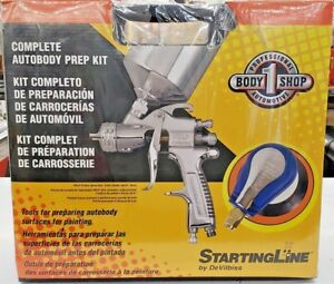 Devilbiss Startline Hvlp Spray Gun 6 Palm Sander Auto Body Prep Complete Kit
