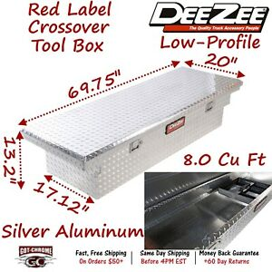 Dz8170l Dee Zee Aluminum Truck Crossover Tool Box Low Profile Single Lid