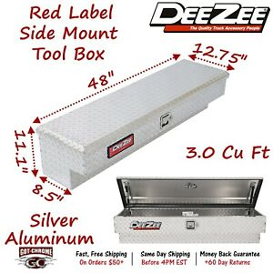 Dz 8748 Dee Zee Tool Box Red Label Side Mount Bright Tread Aluminum 48