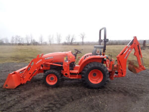 2014 Kubota L3901 La525 Loader Bh77 Backhoe 4wd Shuttle Shift 39hp 334 Hrs
