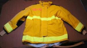 Lion Janesville Firefighter Fireman Turnout Gear Jacket Size 50 32 r d e1