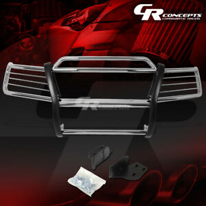 Chrome Stainless Bumper Grille grill Guard Kit For 99 04 Jeep Grand Cherokee Wj