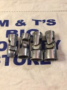 Snap On Tools Usa 3 8 Dr 6pt 4pc Universal Swivel Sockets Fs Series Old Logo