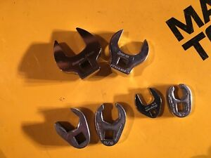 Snap On Open End Crow Foot Wrench Lot