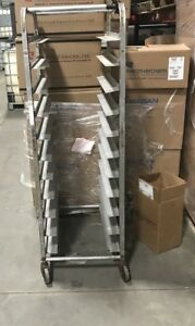 Commercial Cooling Rack Holds 11 Pans Stainless Steel rolling