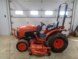 2011 Kubota B3200 Tractor 4wd Hydro 72 Belly Mower 32hp Diesel 1 901 Hours