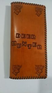 Oil Field Leather Deer Hunting Pipe Tally Book Cover 8 75 X 4 Yyy