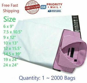 Poly Mailers Plastic Envelopes Shipping Bags Free Shipping All Sizes 14 5x19 12