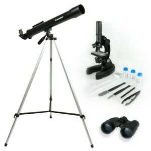 Celestron International 22010 Telescope Microscope Binocular Science Kit