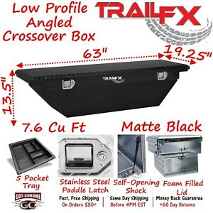 120633 Trailfx 63 Matte Black Aluminum Crossover Truck Tool Box Low Profile Lid