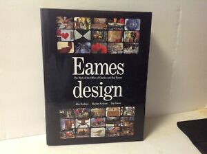 Eames Design Charles Ray Eames Hard Cover W Dust Jacket Mid Century Designs