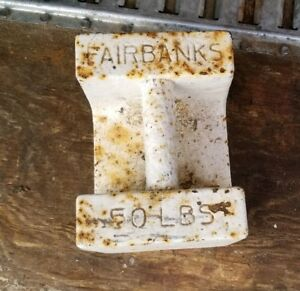 Vintage Fairbanks Elevator Weight 50 Lbs Doorstop Tent Anchor Horse Tether Scale