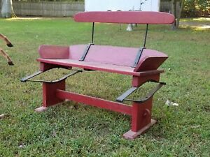 Vintage Wooden Seat For Wagon Antique Horse Carriage Buckboard Original Springs