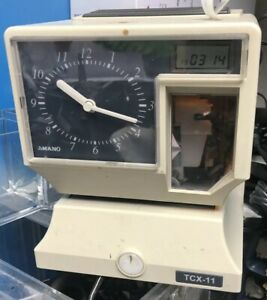 Amano Model Tcx 11 Electronic Time Card Clock
