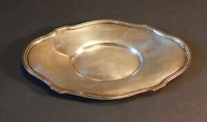 Antique Silver Plated Small Oval Tray Sheffield England