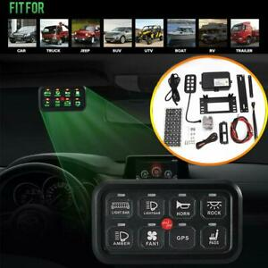 Switch Panel 8 Gang On off Control Electronic Relay System Off Road For Jeep Utv