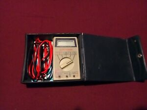 Micronta Digital Multimeter 22 188 Auto range With Box Instructions And Cables