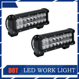 2x 9inch Bumper Led Work Light Bar Combo Driving Fog Lamp For 4wd Suv Truck Boat