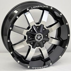 20 Black Cnc Lonestar Gunslinger Wheels Ford F150 Truck 20x9 Inch 6x135 0mm