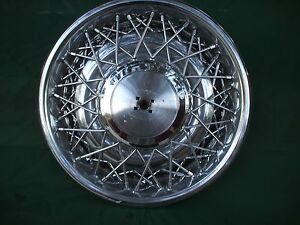 Cadillac Brougham Deville oldsmobile Wire Wheel Cover Hub Cap Rwd 1975 1984