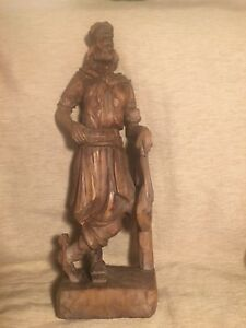 Antique Wooden Hand Carved Sculpture