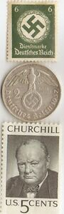Ww2 Silver Us And German Coins Stamps