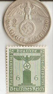 Wwii Us And German Silver Coins And Stamps