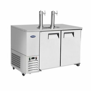 Atosa Mkc58 58 Stainless Door 2 Keg Capacity Draft Beer Cooler Free Lift Gate