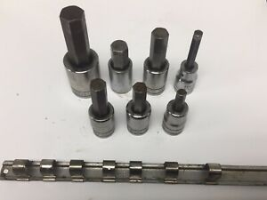 Snap On Wright Proto Lot Of 7 1 2 Dr Hex Bit Socket 3 4 5 8 9 16 5 16 1 2 7 16