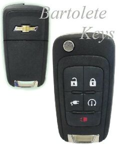Oem Keyless Entry Remote Car Key Fob For Chevrolet Volt Push Start Button Only