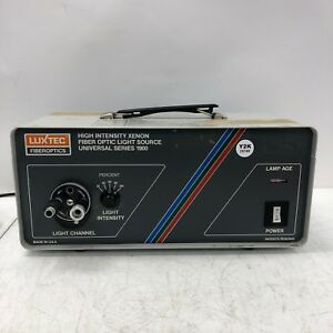 Luxtec Fiber Optic Light Source Universal Series 1900 Tested And Working