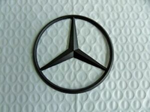 New For Mercedes Benz Flat Black Star Trunk Emblem Badge 90mm Free Shipping