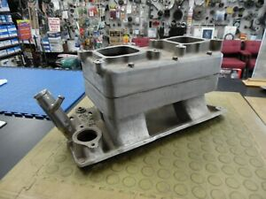 Vintage Edelbrock Tr 1 Tunnel Ram Shoebox Intake Small Block Chevy Sbc
