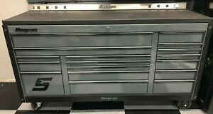 Snapon Snap on Strom Gray Kra2423 Tool Cabinet With Rhino Stainless Steel Top