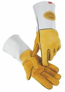 Caiman Welding Gloves Mig stick 14 Xl Pr Gold gray 1858 6 1 Each