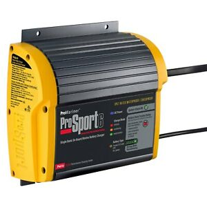 Promariner Prosport 12v 6 Charging Amps Compact On Board Marine Battery Charger