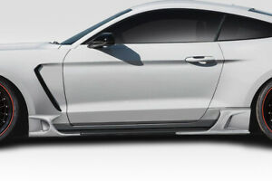 Duraflex Kt Style Side Skirt Rocker Panels Add Ons 4 Piece For Mustang Ford