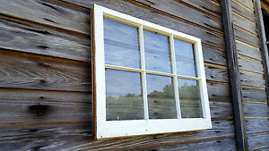 Vintage Sash Antique Wood Window Unique Frame Pinterest Wedding 6 Pane 32x24