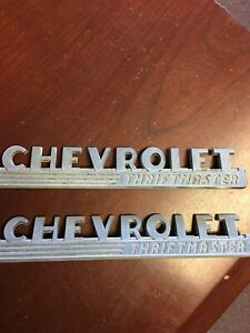 1947 1953 Chevy Truck Hood Emblems Thriftmaster