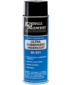 Kimball Midwest Ultra Rubberized Undercoating 6 Pack 18 0z L K 3m Like