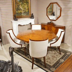 Outrageous French Rosewood Art Deco Style Dining Breakfast Table